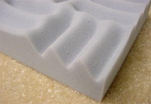 Exemplo de espuma perfilada em melamina