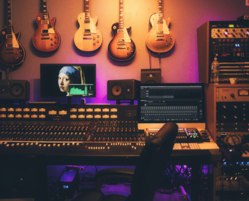 Estúdio de áudio para mixagem e masterização